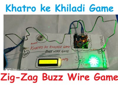 Zig Zag Buzz Wire Game