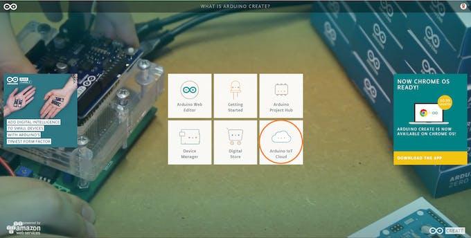 Step 1 - Select Arduino IOT Cloud