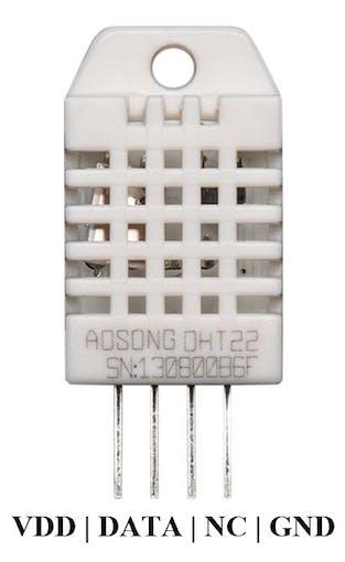 DHT22 sensor pinout