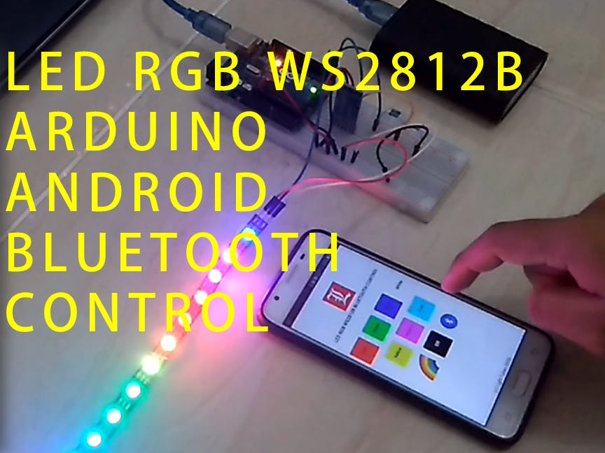 Control LED RGB WS2812B using Bluetooth and Android