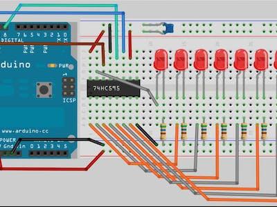 Arduino Workshop-Shift Register 8-Bit Binary Counter