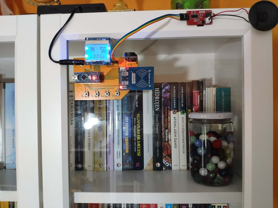 Arduino RFID Reading Time Checker with MP3 Player and RTC