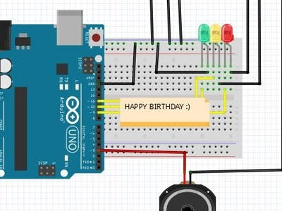 Happy Birthday Melody using Arduino