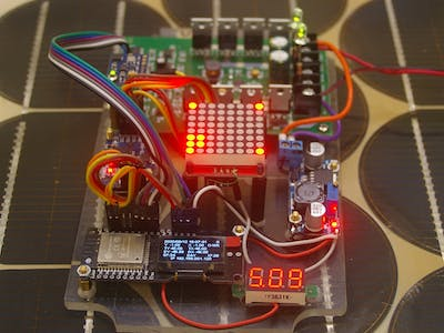 ESP32 Dual Axis Solar Tracking from the ESP8266 Code