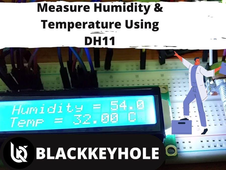 DH11 Sensor dispaly tutorial