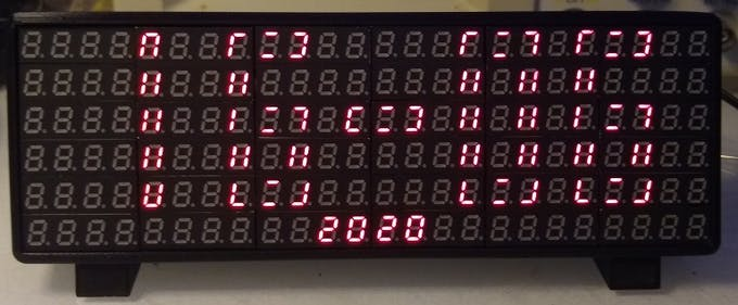 Date screen using alternative font