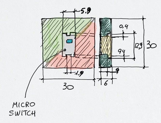 Checkerboard square module quoted sketch
