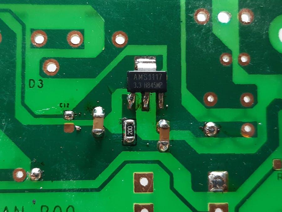 AMS1117 Voltage Regulation PCB