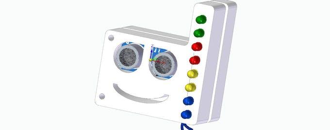Figure 1 - Teaching case for the implementation of the HC-SR04 ultrasonic sensor.