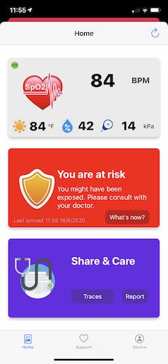 TraceX app alerts user when someone is diagnosed positive and was in contact in last 14 days