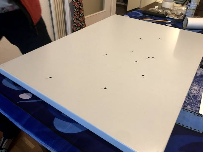 Before you glue your map, make sure you drill holes big enough to fit your jack sockets.