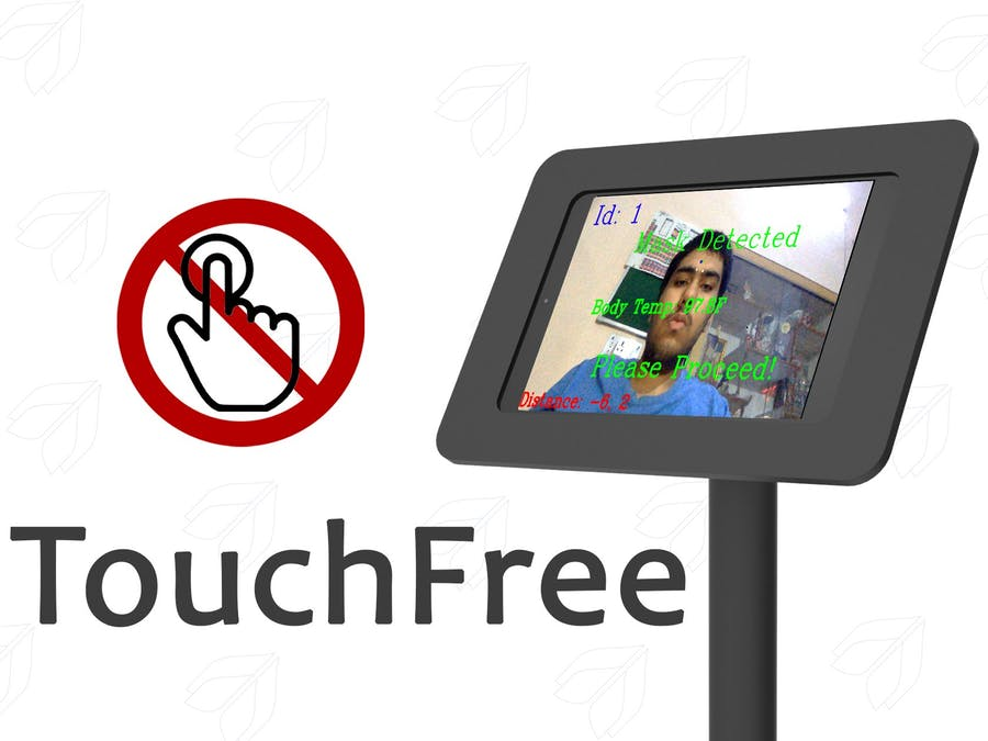 TouchFree: Automated Temperature Checkup and Mask Detection