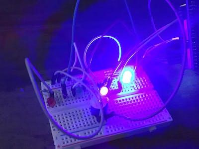 Multicolored LED Stream with Buzzer