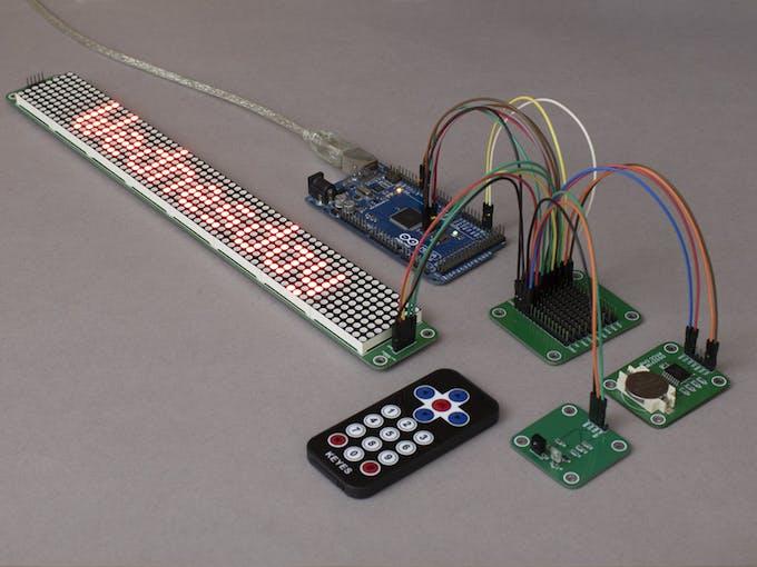 Arduino MAX7219 Display and IR Data Input
