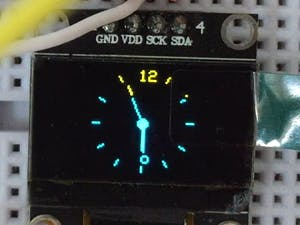 Analog Style Clock on OLED Display