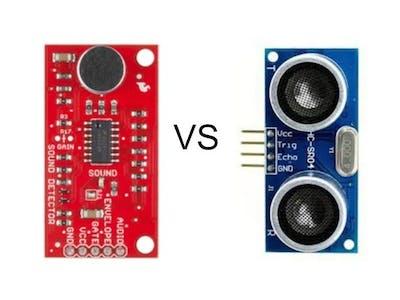 Sparkfun Sound Detector VS. HC-SR04 Ultrasonic
