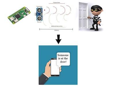 Home Alarm System with Raspberry Pi Zero W