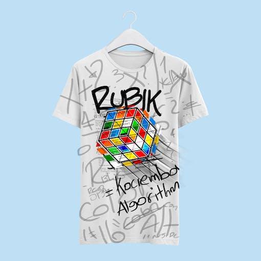 Rubik's cube T-shirt - final design