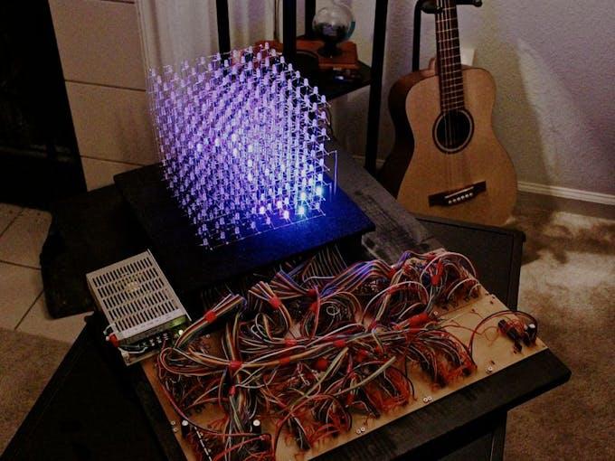 Kevin Darrah's RGB LED cube