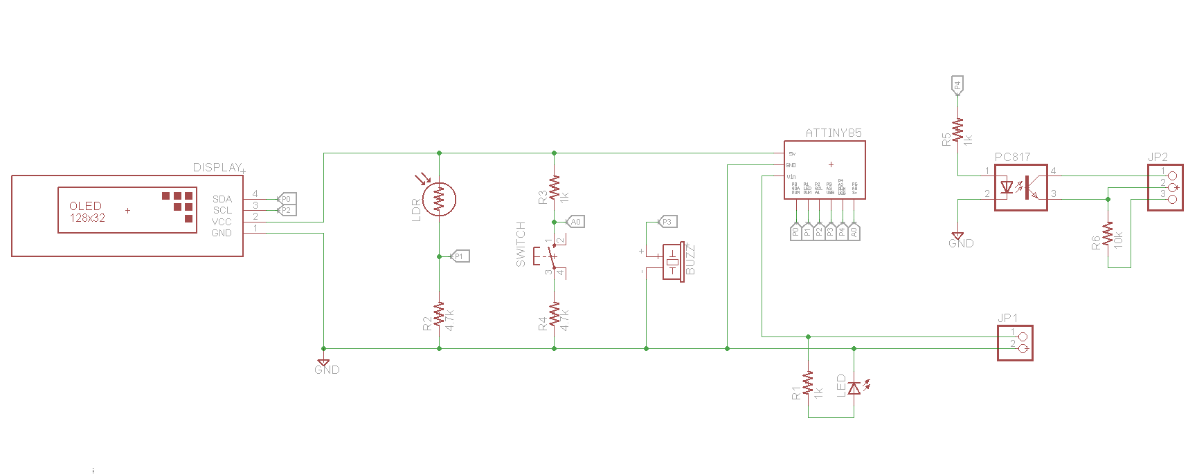 3D printer clog detector v2 schematic