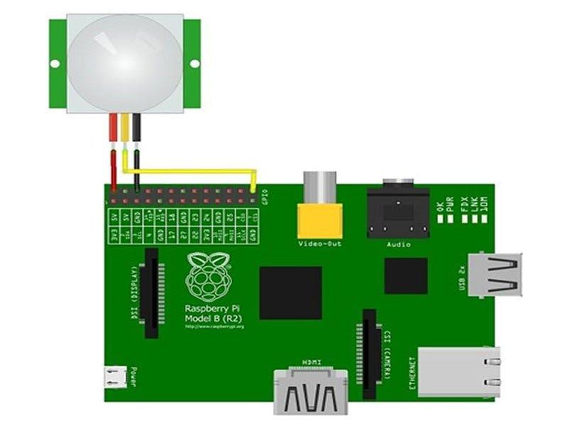 How to interface HC SR501 PIR sensor with Raspberry pi