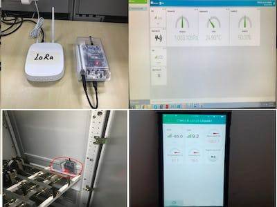 Lora Based Switchgear Temperature and Humidity Monitoring