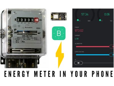 Iot smart energy meter, monitor readings in your phone