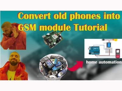 How to convert old mobiles phones into GSM Module for Home