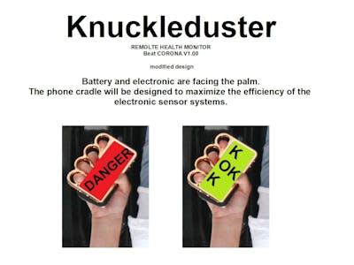 Electronic tele-health knuckle duster. [EPIDEM-senor system]