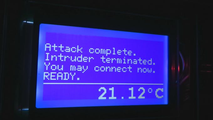 The work is done, intruder is down and the system is freshly restarted.