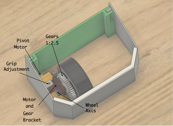 second Prototype with gear box