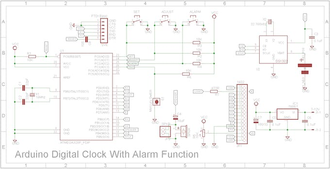 Alarm clock schematic