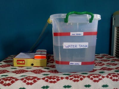 IOT based tank water monitoring system