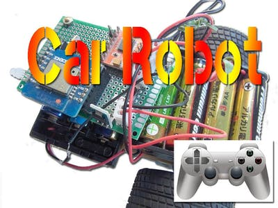 ESP8266 Car Robot controlled by Gamepad