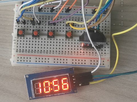 Timer Clock - Arduino Nano - Displays 7 Segments - Settable