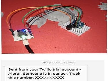 SMS Safety Alert system using Bolt IoT and Twillio