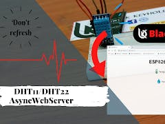 ESP8266 Temperature and Humidity AsynchronousWeb Server