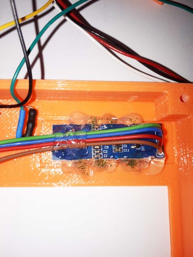 I have fixed the display module with hot glue