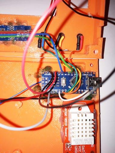 I have fixed the Arduino Nano board with hot glue