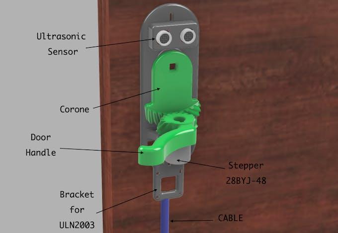 Current Sand of Door Handle with ultrasonic sensors