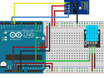 Temperature,Humidity Measurement Using Arduino with ESP8266