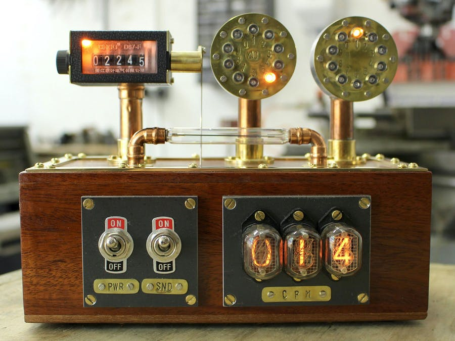A Steampunk Geiger Counter with Raspberry Pi & Grafana
