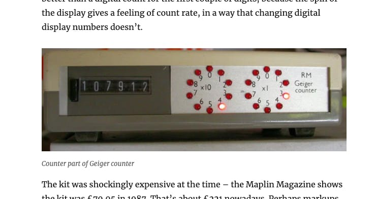 The original Maplin Geiger Counter. Perhaps some of the design cues are visible here?! (Credit: Richard Mudhar)
