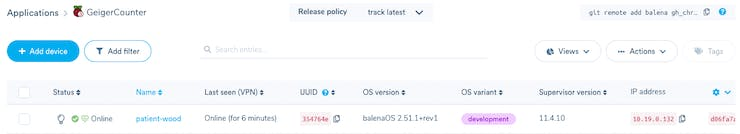 Managing devices on balenaCloud