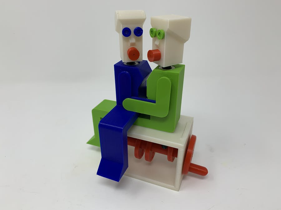 """Lora and I"", a Simple 3D Printed Automaton"