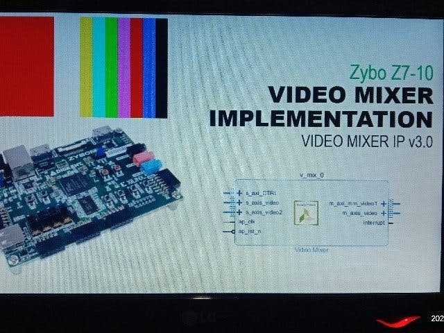 Video Mixer feature implementation on Zynq FPGA