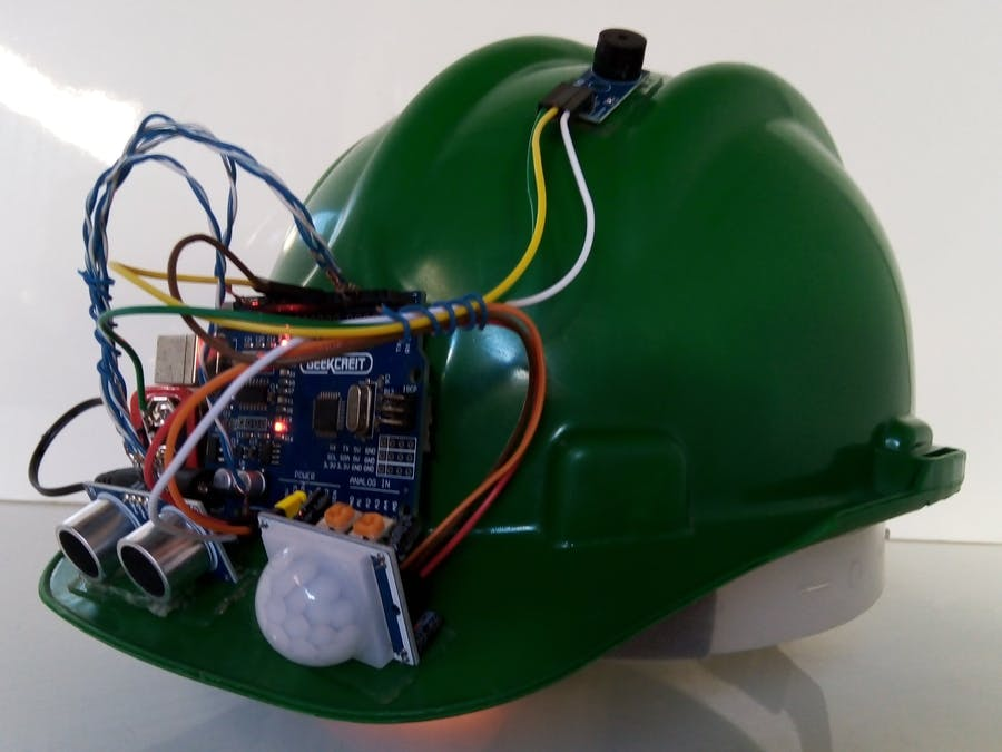 Helmet that help in Social Distancing.