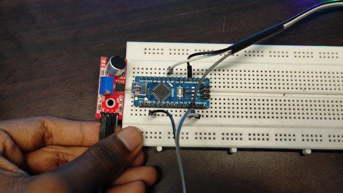 Connect Sound sensor With Arduino Nano