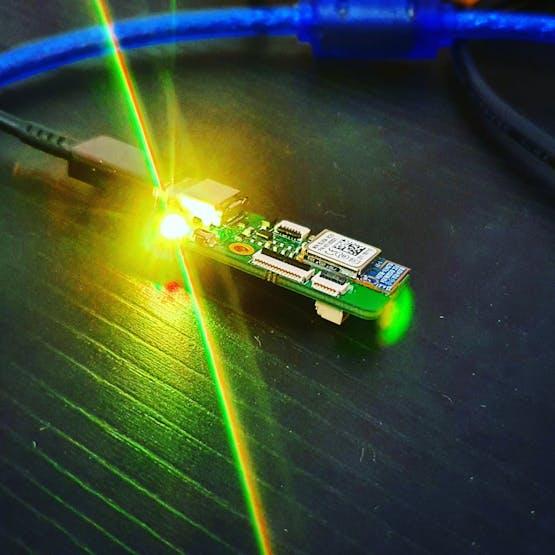 RGB LED lighting.
