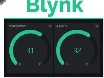 Monitoring temperature using Blynk (DHT11)